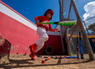 CAYEY, PUERTO RICO - NOVEMBER 10:  A boy prepares to bat in a Little League baseball game on November 10, 2018 in Cayey, Puerto Rico. The effort continues in Puerto Rico to remain and rebuild more than one year after the Hurricane Maria hit and devastated the island on September 20, 2017. The official number of deaths from the disaster is 2,975.