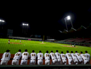 SAN JUAN, PUERTO RICO - NOVEMBER 15:  Players of the Gigantes De Carolina  watch the game from the dugout as their team plays against the Indios De Mayaguez during opening day of the Professional Baseball League of Puerto Rico at Hiram Bithorn Stadium on November 15, 2018 in San Juan, Puerto Rico. The effort continues in Puerto Rico to remain and rebuild more than one year after the Hurricane Maria hit and devastated the island on September 20, 2017. The official number of deaths from the disaster is 2,975.