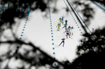 Athletes compete during the Men's Biathlon 12.5km Pursuit on day three of the PyeongChang 2018 Winter Olympic Games at Alpensia Biathlon Centre on February 12, 2018 in Pyeongchang-gun, South Korea