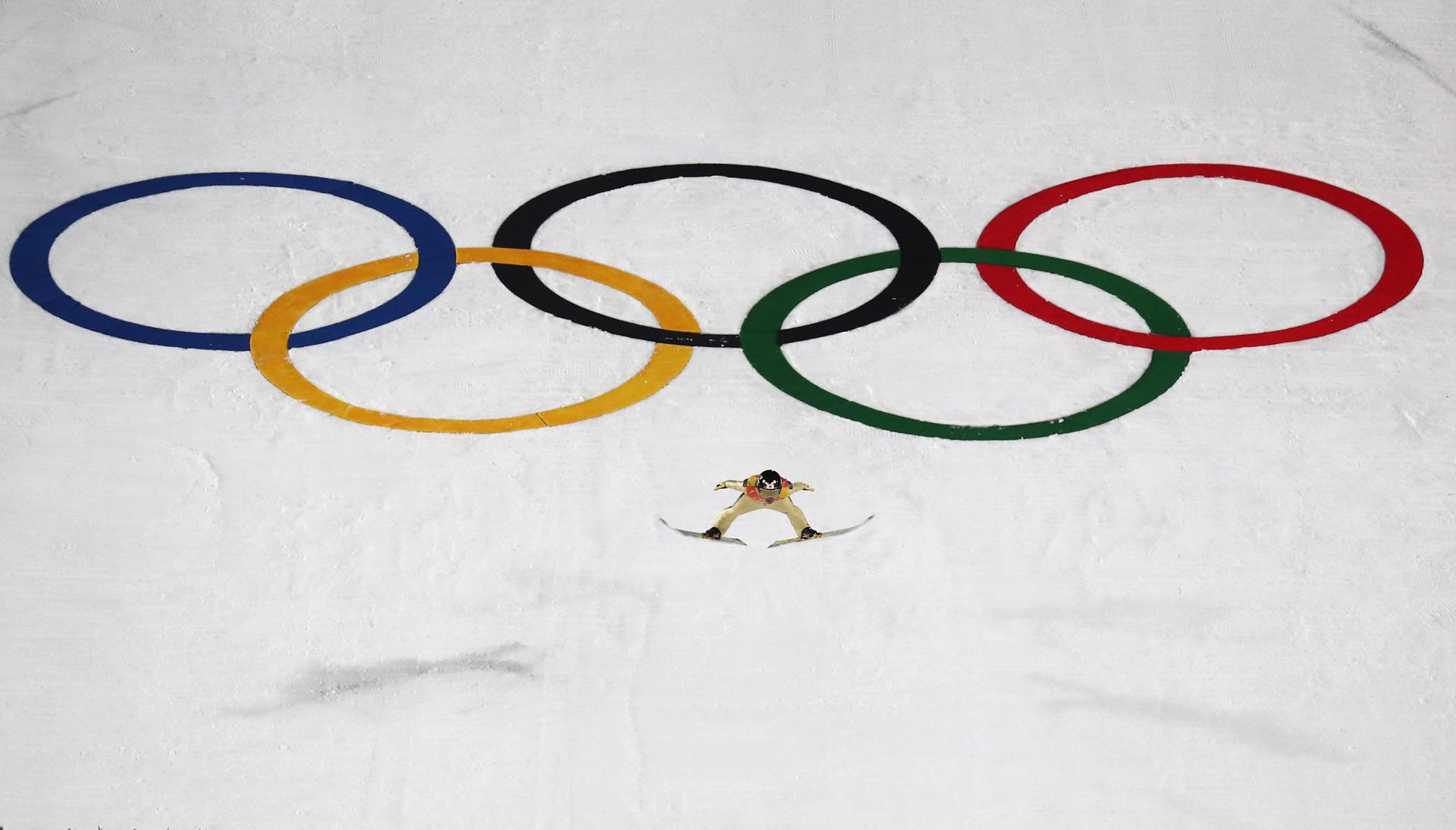 Noriaki Kasai of Japan  during the Ski Jumping - Men's Team Large Hill on day 10 of the PyeongChang 2018 Winter Olympic Games at Alpensia Ski Jumping Center on February 19, 2018 in Pyeongchang-gun, South Korea.