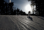 An athlete trains prior to the Cross Country Ladies' Team Sprint Free on day 12 of the PyeongChang 2018 Winter Olympic Games at Alpensia Cross-Country Centre on February 21, 2018 in Pyeongchang-gun, South Korea.