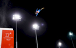 Madison Olsen of the United States competes during the Freestyle Skiing Ladies' Aerials Final on day seven of the PyeongChang 2018 Winter Olympic Games at Phoenix Snow Park on February 16, 2018 in Pyeongchang-gun, South Korea.