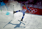 Samu Torsti of Finland crashes during the Alpine Skiing Men's Giant Slalom on day nine of the PyeongChang 2018 Winter Olympic Games at Yongpyong Alpine Centre on February 18, 2018 in Pyeongchang-gun, South Korea.