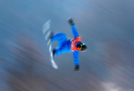 An athlete trains during the Snowboard practice session during previews ahead of the PyeongChang 2018 Winter Olympic Games at Phoenix Snow Park on February 7, 2018 in Pyeongchang-gun, South Korea.