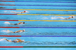 Katie Ledecky of the United States competes in the Women's 400m Freestyle Final on Day 2 of the Rio 2016 Olympic Games at the Olympic Aquatics Stadium on August 7, 2016 in Rio de Janeiro, Brazil.