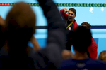 Gold medalists Michael Phelps and Nathan Adrian of the United States wave to the crowd during the medal ceremony for the Final of the Men's 4 x 100m Freestyle Relay on Day 2 of the Rio 2016 Olympic Games at the Olympic Aquatics Stadium on August 7, 2016 in Rio de Janeiro, Brazil.