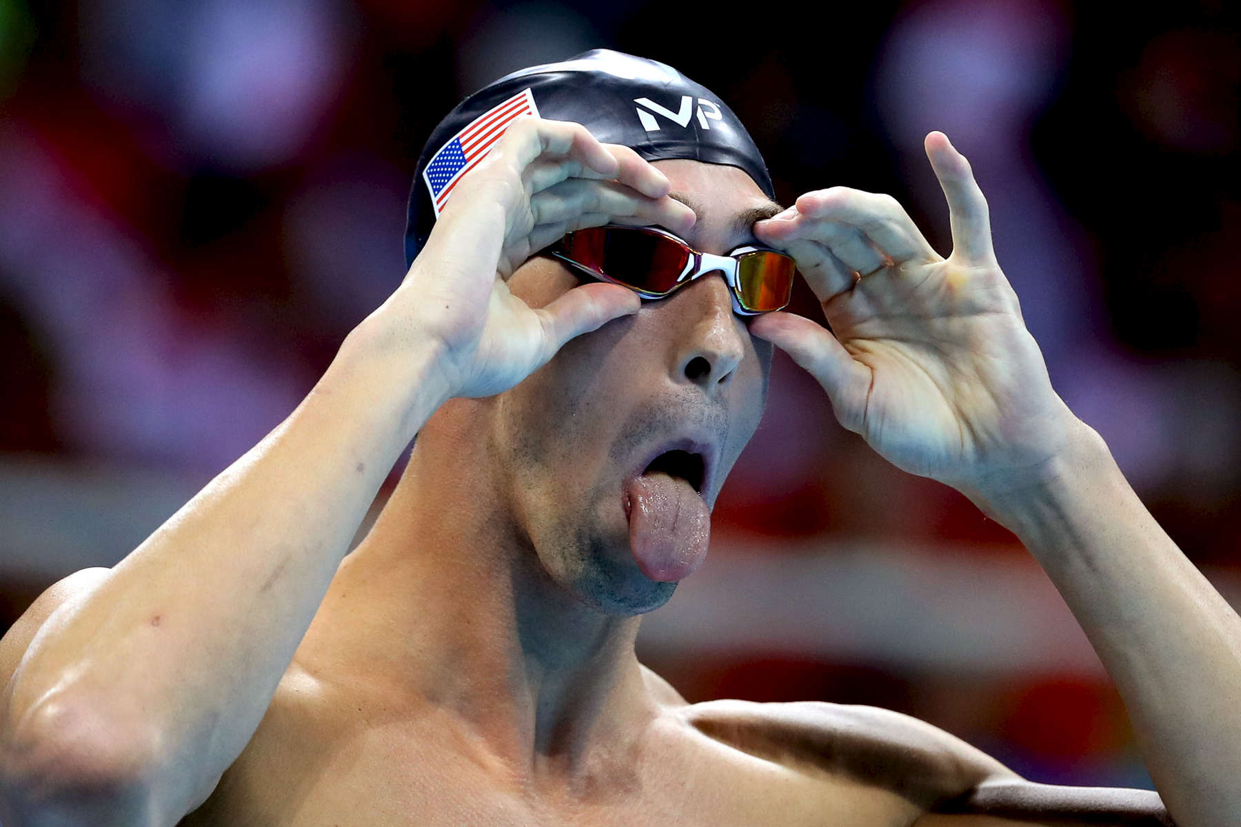 Michael Phelps of the United States prepares in the second Semifinal of the Men's 200m Butterfly on Day 3 of the Rio 2016 Olympic Games at the Olympic Aquatics Stadium on August 8, 2016 in Rio de Janeiro, Brazil.
