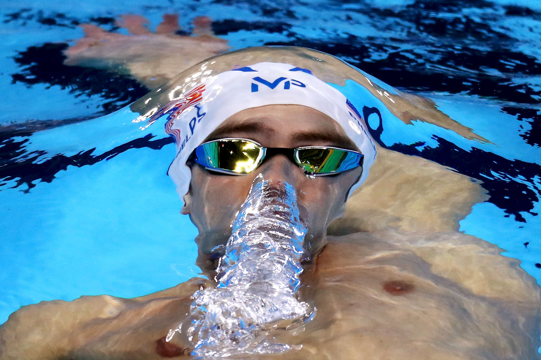 Michael Phelps of the United States competes in the Men's 200m Individual Medley heat on Day 5 of the Rio 2016 Olympic Games at the Olympic Aquatics Stadium on August 10, 2016 in Rio de Janeiro, Brazil.