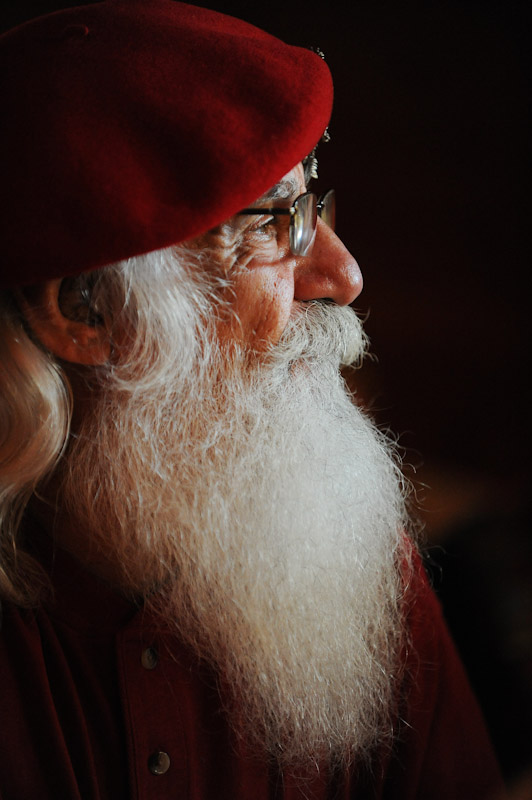 A Santa student looks on during the Charles W. Howard Santa Claus School workshop on October 16, 2008 in Midland, Michigan.