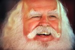 Santa student John Siebler, of Fort White, Florida laughs during the Charles W. Howard Santa Claus School workshop on October 16, 2008 in Midland, Michigan.
