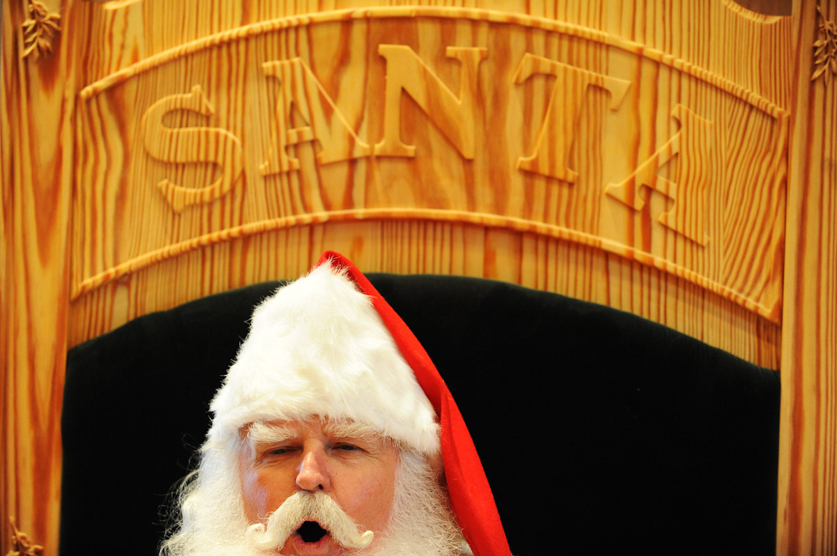 Santa Claus student John Siebler, of Fort White, Florida practices hi Ho Ho ho's during the Charles W. Howard Santa Claus School workshop on October 16, 2008 in Midland, Michigan.