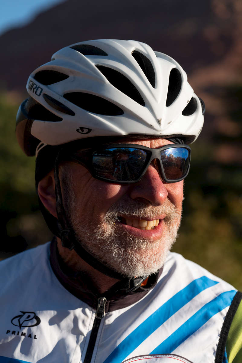 Senior Cyclist Earl Tebockhunt aged sixty nine, poses for a portrait during the Huntsman World Senior Games on October 11, 2019 in St. George, Utah.