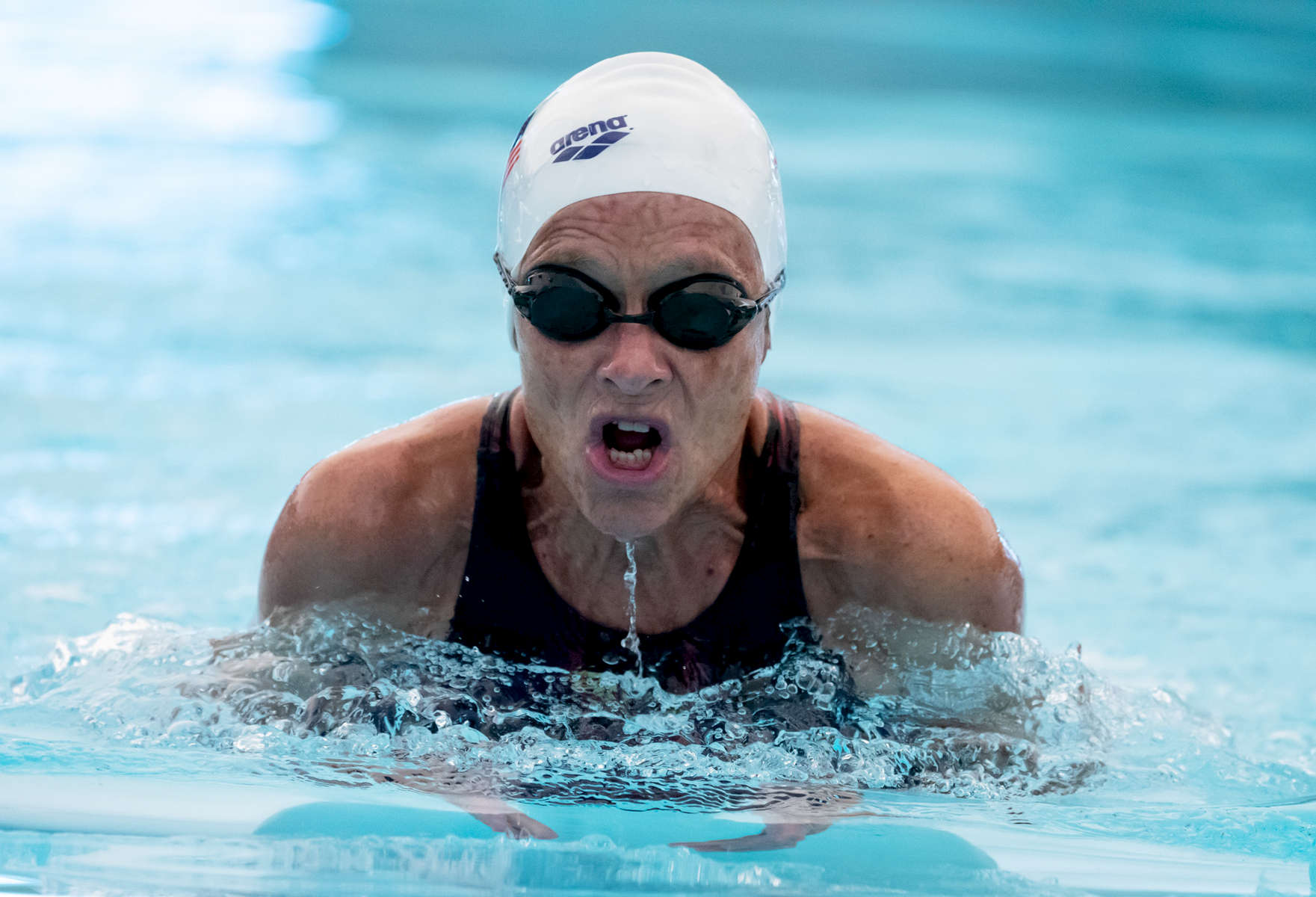 Daniela Barnea waged seventy five competes in the Swimming competition during the Huntsman World Senior Games on October 10, 2019 in in St.George Utah.