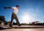 Senior athlete Roy Buhler aged seventy one throws a horse shoe before the start of the Horse shoes competition during the Huntsman World Senior Games on October 16, 2019 in St. George, Utah.