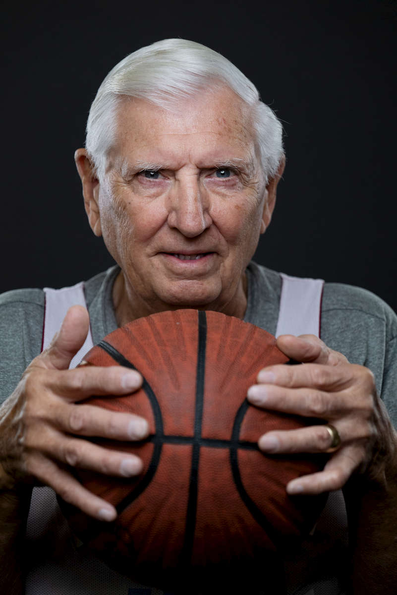 Senior basketball player Hillard South aged eighty one, poses for a portrait during the Huntsman World Senior Games on October 11, 2019 in St. George, Utah.