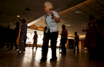 Caroline Dodge, 85 years old of Seaford takes a line dancing class at the Freeport Recreation Center on April 22, 2004 in Freeport, New York.