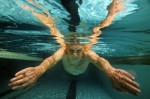 Gerson Sobel, 93, of Rockville Center, New York swims his morning laps at the Freeport Recreation Center on February 6, 2004 in Freeport, New York.