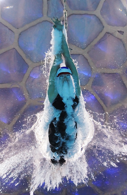 Rebecca Adlington of Great Britain competes in the Women's 800m Freestyle Heat 4 at the National Aquatics Centre during Day 6 of the Beijing 2008 Olympic Games on August 14, 2008 in Beijing, China.