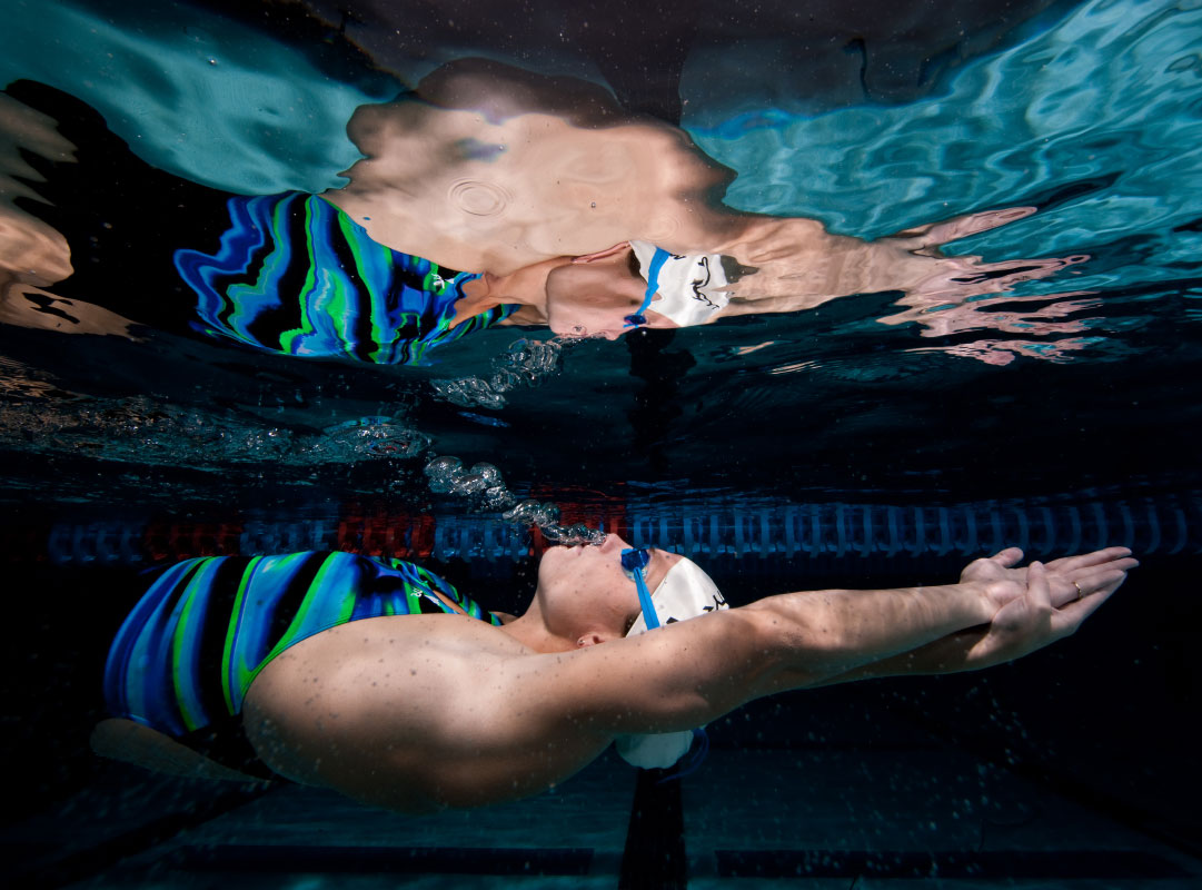 USA Olympians Megan Jendrick swims at the Bolles Swim Club on April 12, 2010 in Jacksonville, Florida