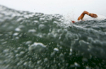 Hennert Mayorga of Nicaragua swims during the Men's Triathlon at the Pan American Games on July 12, 2015 in Toronto, Canada.