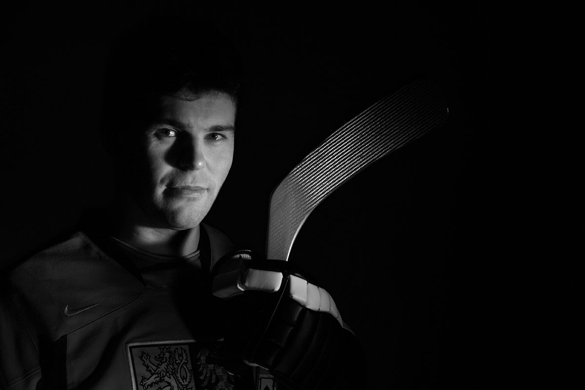 Jaromir Jagr of the New York Rangers poses for a portrait representing The Czec Republic in the 2006 Winter Olympics. The Portrait was taken at The Rangers training complex in Tarrytown, New York  on  December 29, 2005.