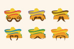 Taco moustaches for Old El Paso El Tacoador Mobile app
