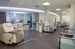 Infusion Room at Southern Ocean Medical Center in Manahawkin, New Jersey.  Photo By Bill Denver