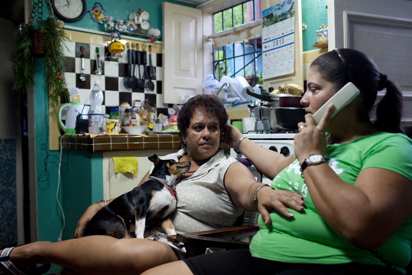 A  couple share a moment in their apartment. Both women are open about their relationship in their community and at work. A common worry amongst older couples is the issue of inheritance since gay marriage and civil unions have not been legalized and common law relationships between same-sex couples are not recognized.