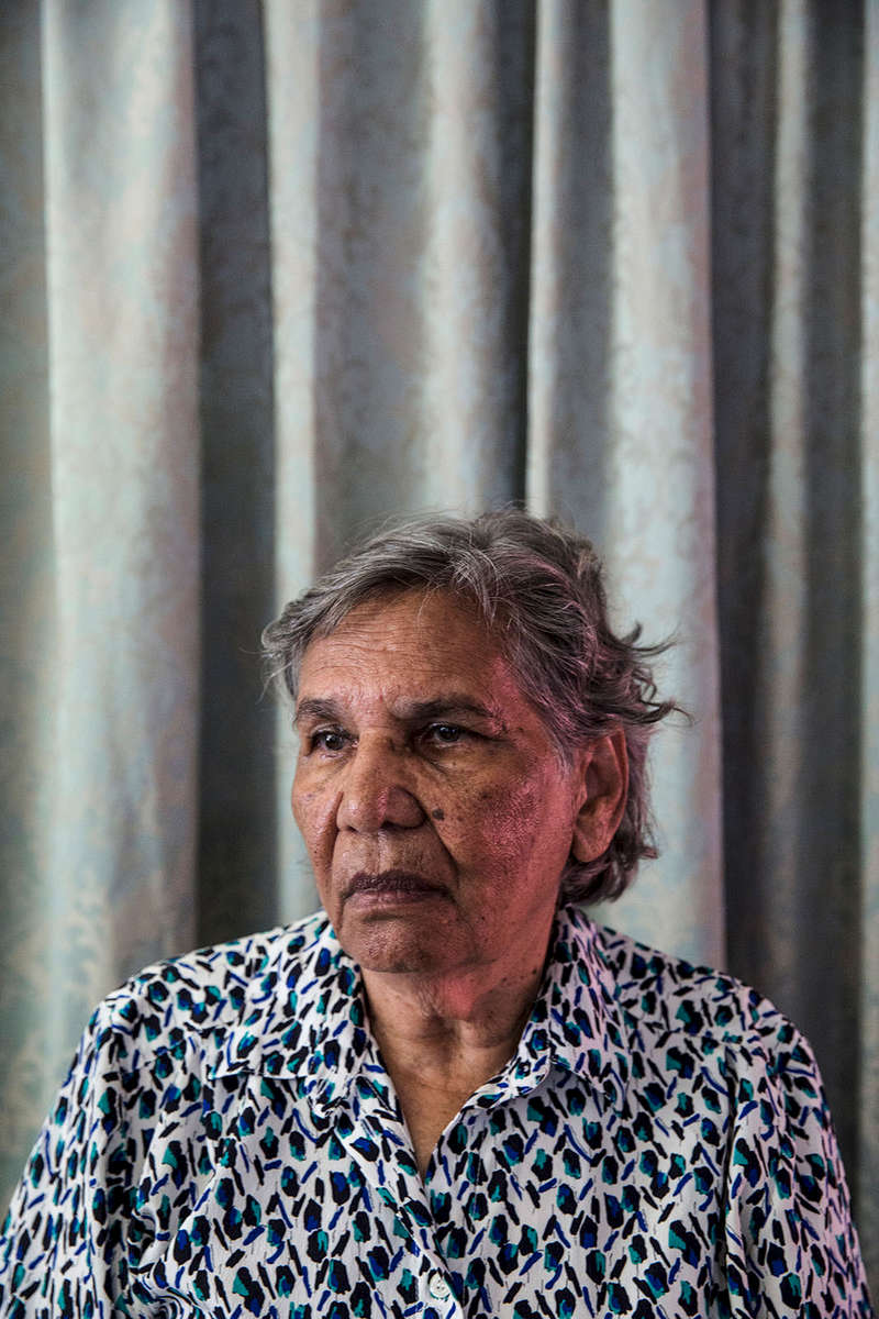 "Lorna Cubillo was removed from Banka Banka Station and taken to Seven Mile Creek. She was moved to Phillip Creek several years later, and eventually to Darwin to live at the Retta Dixon Home with 15 others in 1947. While there, she experienced physical and emotional abuse, as well as sexual harassment. She also lost her aboriginal language, culture and family connections.In 1999, Lorna and Pete Gunner, a part-aboriginal man who was placed in St. Mary's Hostel in Alice Springs in the 1950's, took the Commonwealth to Federal Court, a case that would set the bar for future lawsuits by members of the Stolen Generation in the Northern Territory. They lost.Essentially, both plaintiffs failed to prove that the Commonwealth had acted illegally, or that the Director of Native Affairs/Native Welfare had abused his powers unlawfully. What they endured was seen as unfortunate, but not criminal at the time. Evidence and testimony were also lacking, speaking to the difficulty of trying a case 40 to 50 years after the fact.Of her testimony in court she says, ""I told the story how it was... and it has effected me, but at least it was a release... like opening the flood gate and letting it all go. All the ugly things came out of my mouth."""