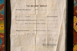 Northern Territory, Registrar of Births, Deaths and Marriages document for Zita Wallace