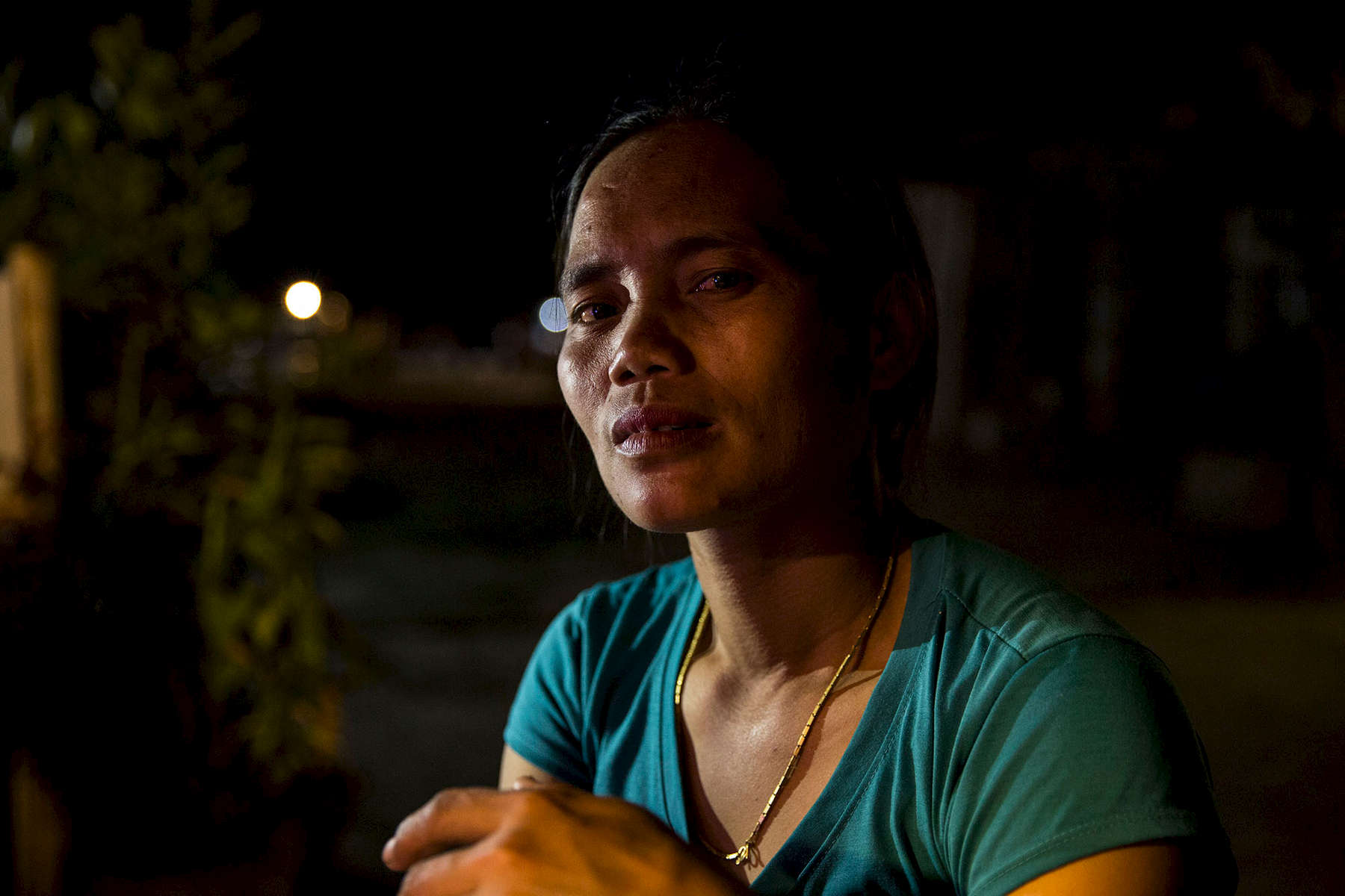 Pong was 13-years-old when she was held at gunpoint by Burmese soldiers while tending to her family's water buffalo at their home in Shan State. They demanded information about Shan soldiers in the area. She walked for 10 days to reach the Thai border with her family nearly 20 years ago.