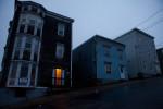 Metcalfe Street at dusk.