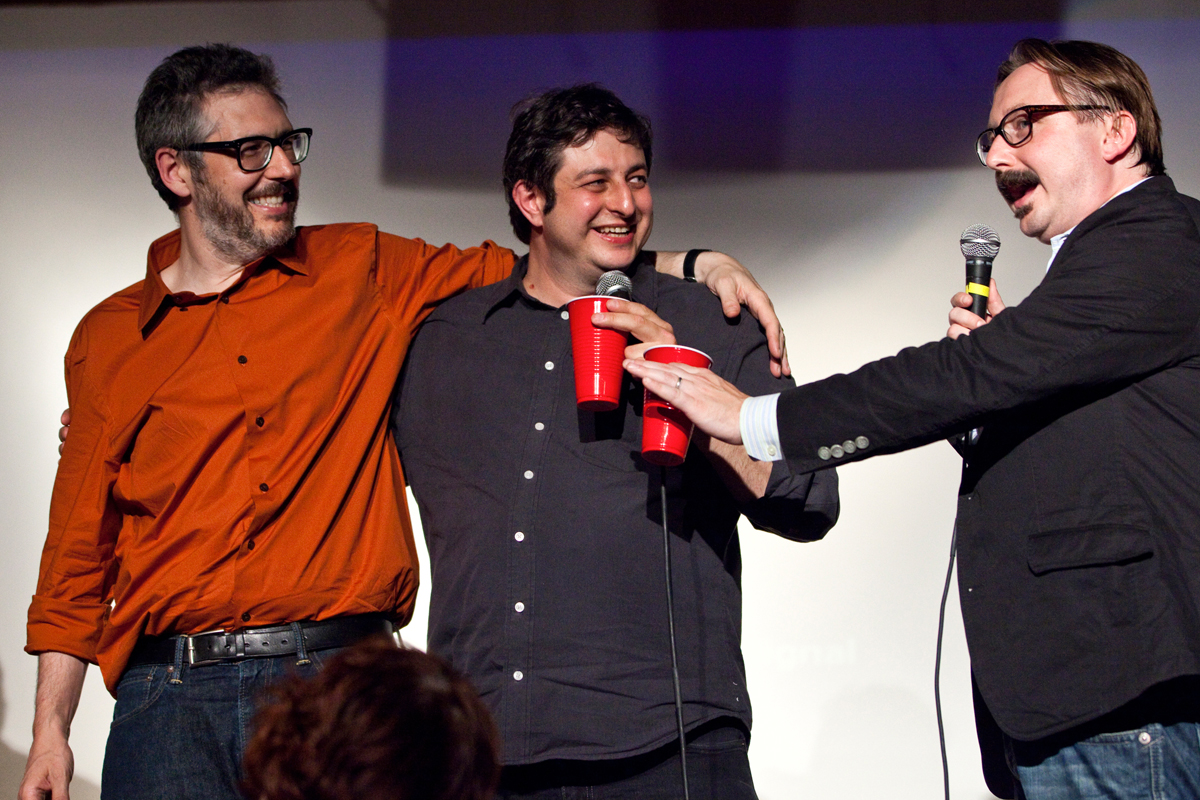ira glass, eugene mirman and john hodgman