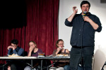 eugene mirman and caviar eating contest