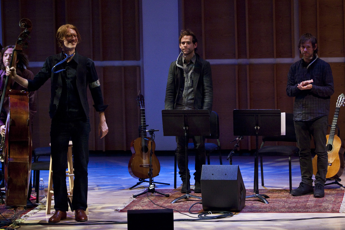 richard reed parry, bryce dessner and aaron dessner