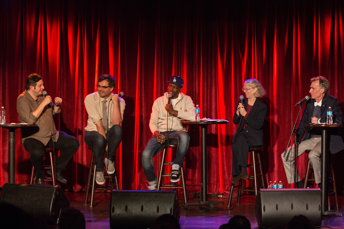 startalk live w/ eugene mirman, jermaine clement, michael che, cynthia rosenweig, and bill nye