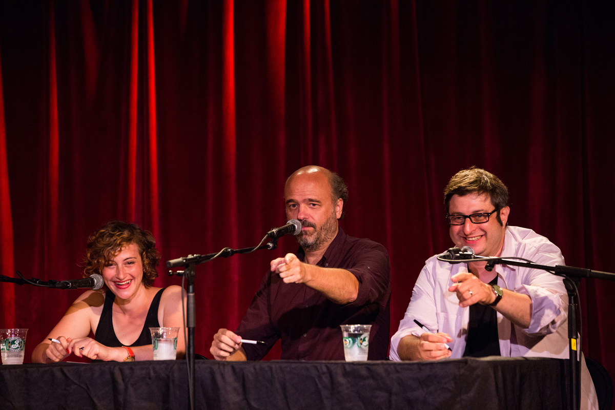 jo firestone, scott adsit and eugene mirman
