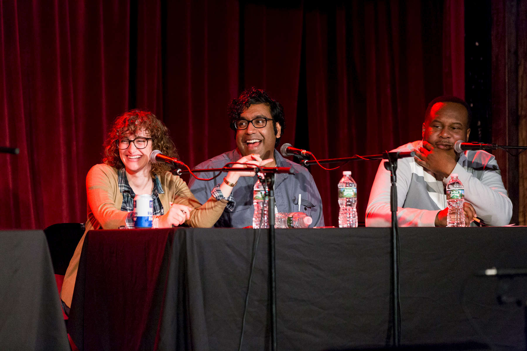 jo firestone, hari kondabolu + roy wood jr.