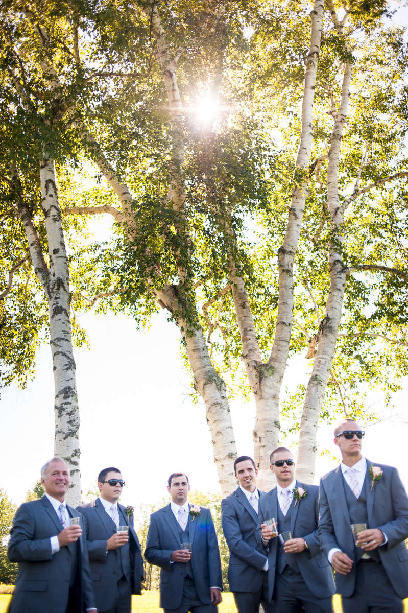 Groomsmen before a wedding in Clarendon Vermont. © Eve Event Photography/All Rights Reserved