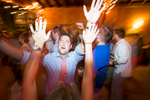 Intimiate shot of the lively wedding dancefloor at the gorgeous Ohana Camp in central vermont.