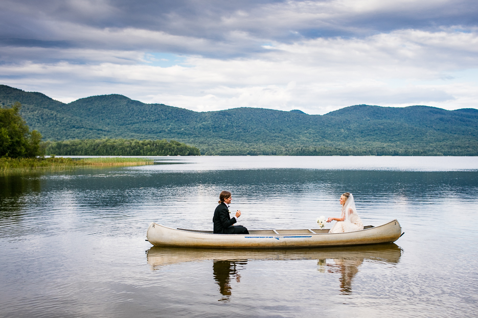Bride and groom portrait at the Mountain Top Inn in Chittenden, Vermont. By Vermont wedding photographers Eve Event Photography