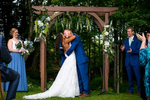 Kristina and Jeff are wed at the Mountain Top Inn, in Chittenden, VT. Wedding photography by eve event photo.
