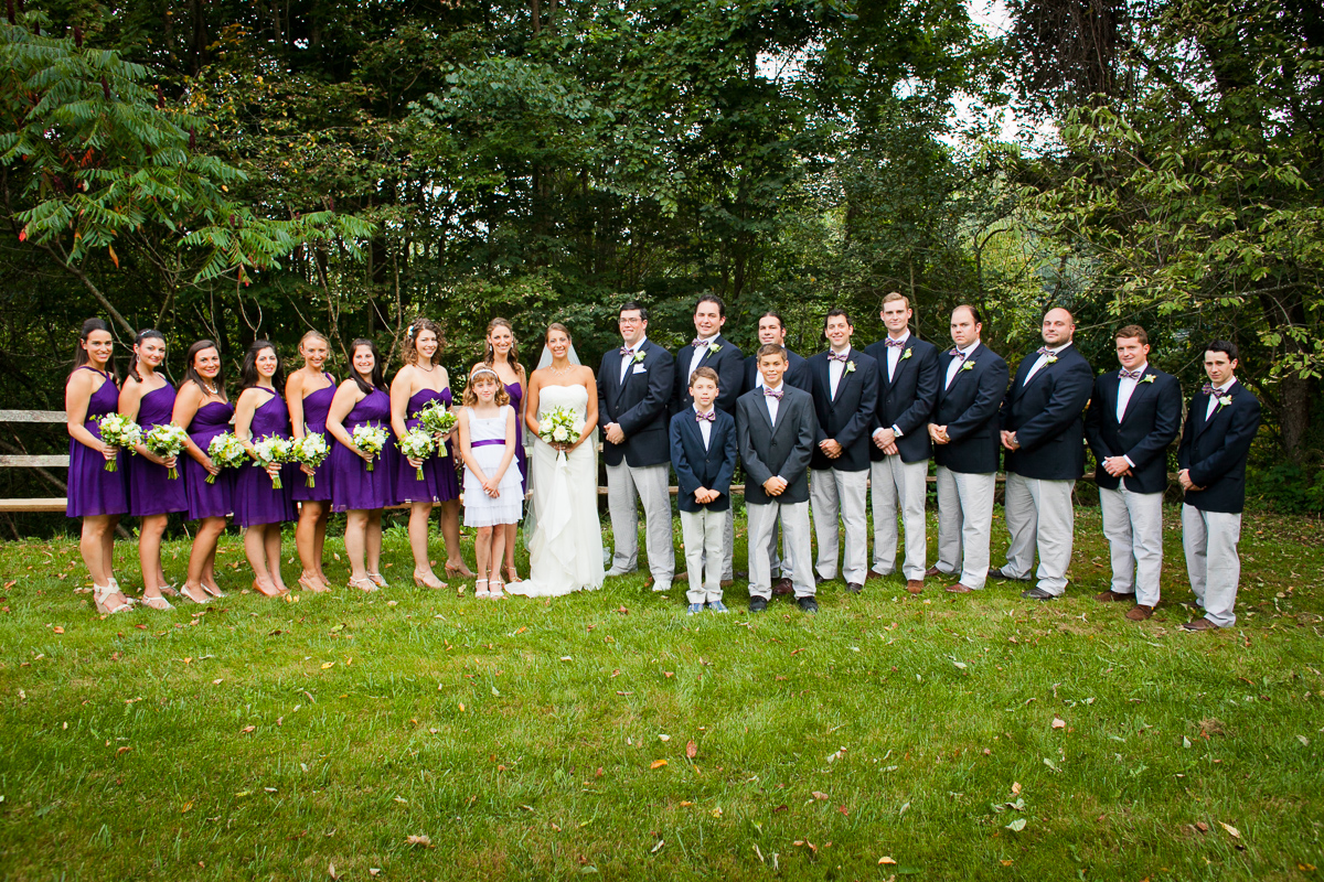 Lauren and Alex are wed at a private residence in Brownsville Vermont. by Vermont wedding photographers Eve Event Photography