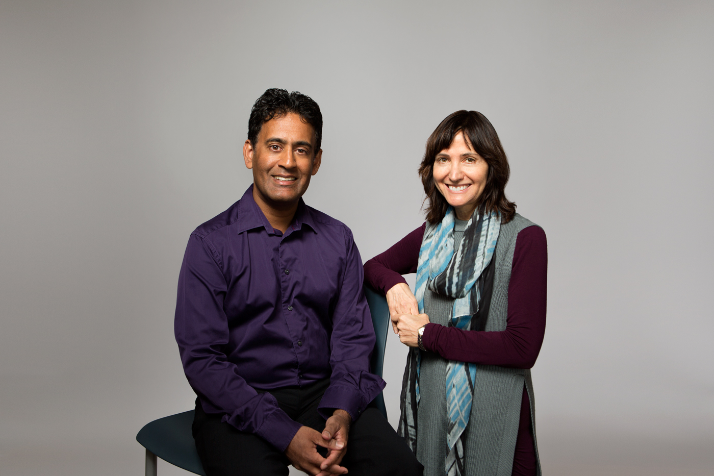 Drs. Ravi Ratnakaran and Denice Feig for Sinai Health magazine.