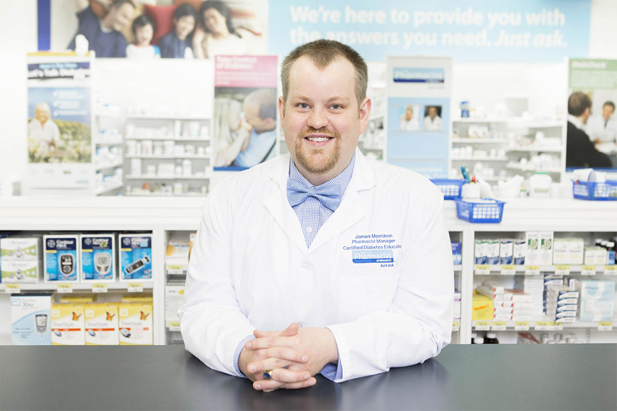 James Morrison photographed for Pharmacy Business magazine