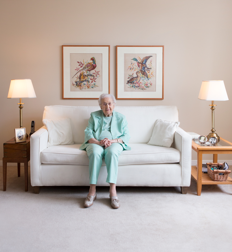 Min Bierstock-Katz, one of Sinai Health System's oldest patients at 99, for Sinai Health magazine.