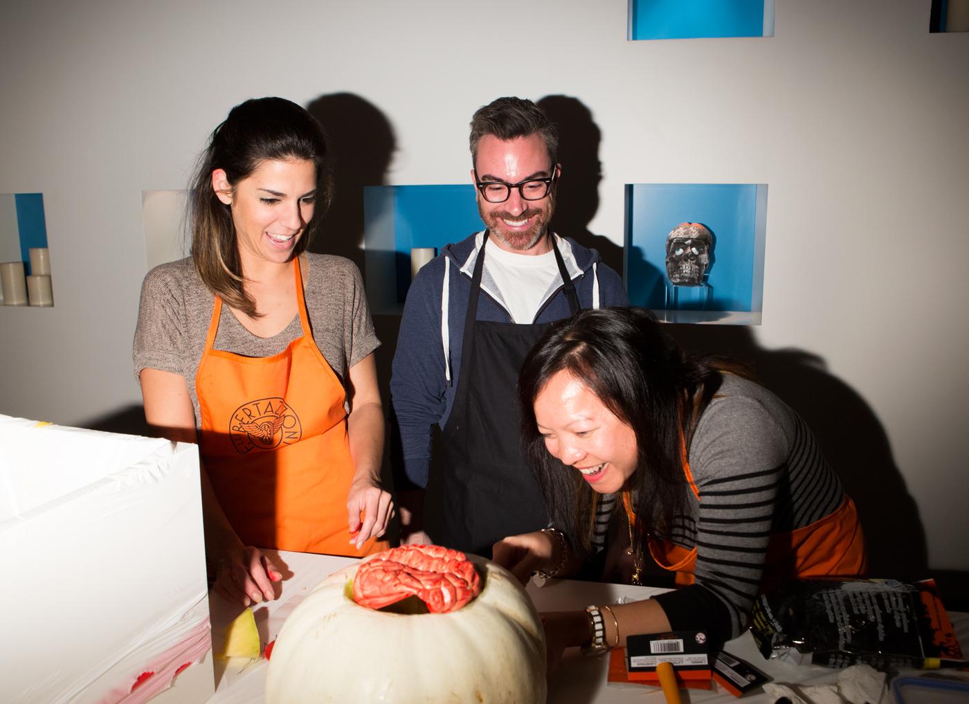 Cecconi Simone staff pumpkin carving.