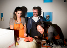 Cecconi Simone staff pumpkin carving.