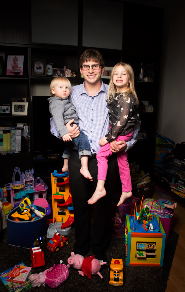 Scott Finkel for a story on parental leave in Benefits Canada.