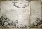 Pierre L'Enfant, J.J. Le Veau, and R. ScotEngraving and pen & ink on parchment, 14 1/4{quote} x 19 3/8{quote}During treatment